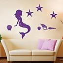 zidne naljepnice zidne naljepnice, crtani sirena PVC zidne naljepnice.