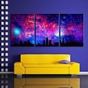 電子home®はスカイ市フラッシュ効果は3セットLED LEDのキャンバスプリントアートを伸ばし