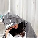 Kigurumi Pidžame Mačka / Totoro Hula-hopke/Onesie Halloween Zivotinja Odjeća Za Apavanje Sive boje Kolaž Coral runo Kigurumi Uniseks