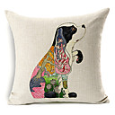 ručno izrađen pas obrazac pamuk / lan dekorativne jastučnicu