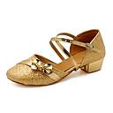 Non Prilagodljiv - Djeca ' - Plesne cipele - Moderni plesovi - Šljokice - Masivnijom Heel - srebro / Zlato