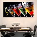 E-home® pruži platnu umjetnosti vino stakla ukras na platnu