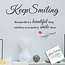 samolepky na zeď na stěnu, vždy s úsměvem anglická slova&cituje pvc samolepky na zeď