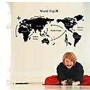 zidne naljepnice zidne naljepnice, karta PVC zidne naljepnice u svijetu