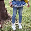 Dívka je Jednobarevné Jaro / Podzim Džíny Směs bavlny Modrá