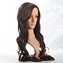 bez krytky dlouhé syntetické hnědé vlnité vlasy paruka