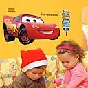 samolepky na zeď na stěnu, karikatura auta Blesk McQueen z PVC na zeď samolepky