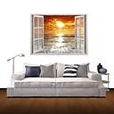 3Dウォールステッカーウォールステッカー、日没の家の装飾のビニールウォールステッカー