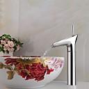 現代風 洗面ボウル シングルハンドルつの穴クロム バスルームのシンクの蛇口