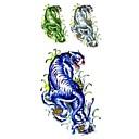1ks módní vodotěsné dočasné tetování paže / noha / krk tetování modré velký tygr těla tetování (18,5 cm * 8,5 cm)