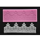 četiri-c silikonska čipka mat dekor kolač pad teksturom kolač boja plijesni ružičasta