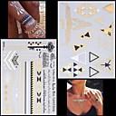 2ks nový zlatý náhrdelník náramek abeceda tetování dočasné tetování nálepka pokožka tetování Flash tetování