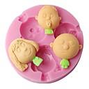 četiri-c 3d dekor plijesni dječaka i djevojčica silikonske boje plijesni ružičasta
