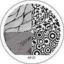 ネイルアートスタンプスタンプ画像テンプレートプレートAPシリーズ21号