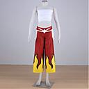 Inspirirana Fairy Tail Elza Scarlet Anime Cosplay nošnje Cosplay Suits Kolaž Crna Bez rukava Top / Hlače / Zavoj