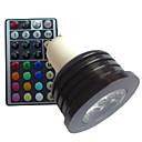 4W GU10 LED reflektori MR16 1 Visokonaponski LED lm RGB Može se prigušiti Na daljinsko upravljanje Ukrasno AC 85-265 V 1 kom.