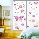 nástěnné nálepky na stěnu, styl růžový motýl pvc samolepky na zeď