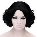 Europski i američki modni kratka crna kovrčava kosa fleeciness vlasulja