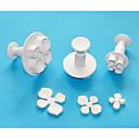 4-Cアジサイプラスチックジャーカッター3、フォンダン/ sugarcraft / gumpaste /マジパンカッターを設定