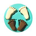 noga otisak beba silikonska Fondant torta plijesni čokolade kalup za pečenje kuhinja šećera torta dekoracija alat