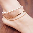 Pearl krug lanac kićanka kratka čarapa narukvice tijelo prsten stopala plaža nakit