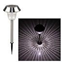 inox 1-na čelu whte solarne travnjakom svjetlo put vrtna svjetiljka