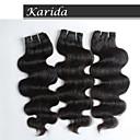 3 ks / lot 100% v surovém stavu nejvyšší kvality tělo vlna indická vlasy, nejvyšší stupeň panna indická vlasy