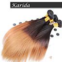 měkký ombre brazilský panna vlasy rovné, 3 ks / lot velkoobchodů rovné ombre vlasy spřádá barvu 1b / 27 #