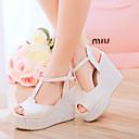 Ženske cipele Umjetna koža Puna potpetica Pune pete Sandale Ležerne prilike Plava/Ružičasta/Bijela