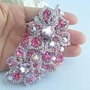 Žene pribor srebro-ton ružičasta vještački dijamant kristalno cvijet broš art deco kristalno broš buket