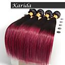 4lot /個12-26インチブラジルオンブル髪はカラー1B / 530ストレートヘア織りを織ります
