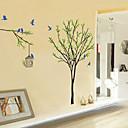 zidne naljepnice zidne naljepnice stil ptica i ptica kavez na stablo PVC zidne naljepnice