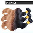 3 kusy tělo vlna ombre vlasy velkoobchod brazilští vlasy, ne zamotat, ne ubývání a měkké brazilský ombre vlasy