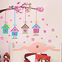 Botanický motiv Romantika květiny Samolepky na zeď Samolepky na stěnu Ozdobné samolepky na zeď,Vinyl Materiál Nastavitelná polohaHome