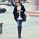 dámská černá / béžová svetr, příležitostná dlouhý rukáv