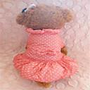 犬用品 ドレス レッド / ブルー 冬 水玉