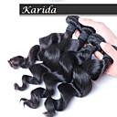4 ks / hodně volná vlna 100% svazky malajského vlasy, doprava zdarma panna brazilský malajské peruánský vlasy velkoobchod