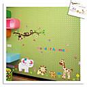 majmun tigar lav slon Zoo zid naljepnice za djecu sobi zooyoo9052 ukrasne prijenosnih PVC zid decal