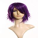 漫画のファッションモデル、紫色の短い髪のかつら