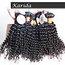 4 ks / lot brazilský kudrnaté kudrnaté vlasy panna, nezpracované panna královna brazilský lidské vlasy