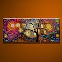 キャンバス豊富なツリー3枚に100%手描きの油絵は/何のフレームを設定していません