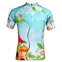 JESOCYCLING® Biciklistička majica Žene Kratki rukav BiciklProzračnost / Quick dry / Ultraviolet Resistant / Prednji Zipper / Povratak