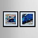 olejomalba moderní abstraktní ručně malované plátno s natažené zarámovaný - sada 2