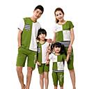 Léto/Jaro Family Soupravy oblečení Mikro elastické Střední Bavlna/Örganická bavlna Krátký rukáv