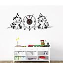 DIY crtani mačka zidni sat