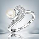 Prstýnky Módní Párty Šperky Postříbřené Dámské Prsteny s kamenem 1ks,Jedna velikost Zlatá