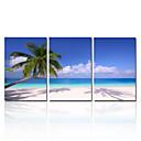 vizuální star®natural modrá obloha plátno tisk beach landscape fotografie na plátně připravené k zavěšení