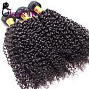 """3 kom puno 12 """"-30"""" Brazilski Jerry Curl djevica kosa potki prirodne crne ljudske kose plete zaplet besplatno"""
