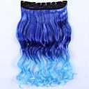 """24inch 60cm 120g klip ženských Grils """"v prodlužování vlasů umělých vlasů kusy Ombre zvýraznění příčesek styl"""
