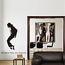 samolepky na zeď lepicí obrazy na stěnu ve stylu MICHAEL JACKSON Klasická akční PVC samolepky na zeď